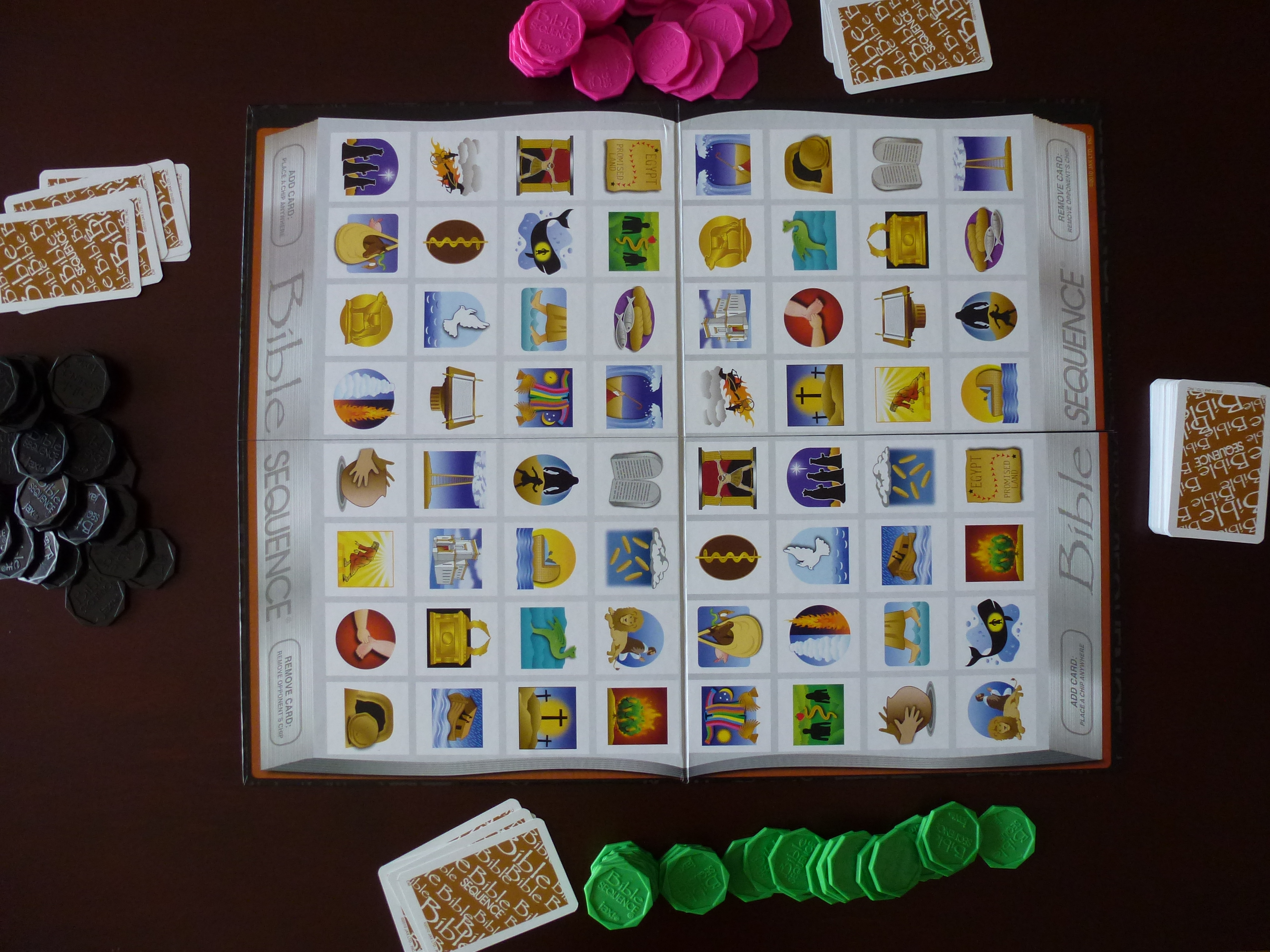 Board Game With Cards And Chips Game Board Playing Cards